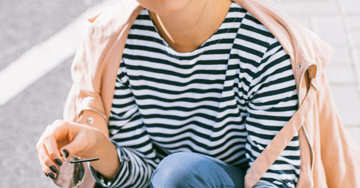 A person in a striped shirt
